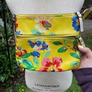 Kate Spade Yellow Floral Crossbody Bag